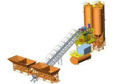 Бетонный завод стационарный